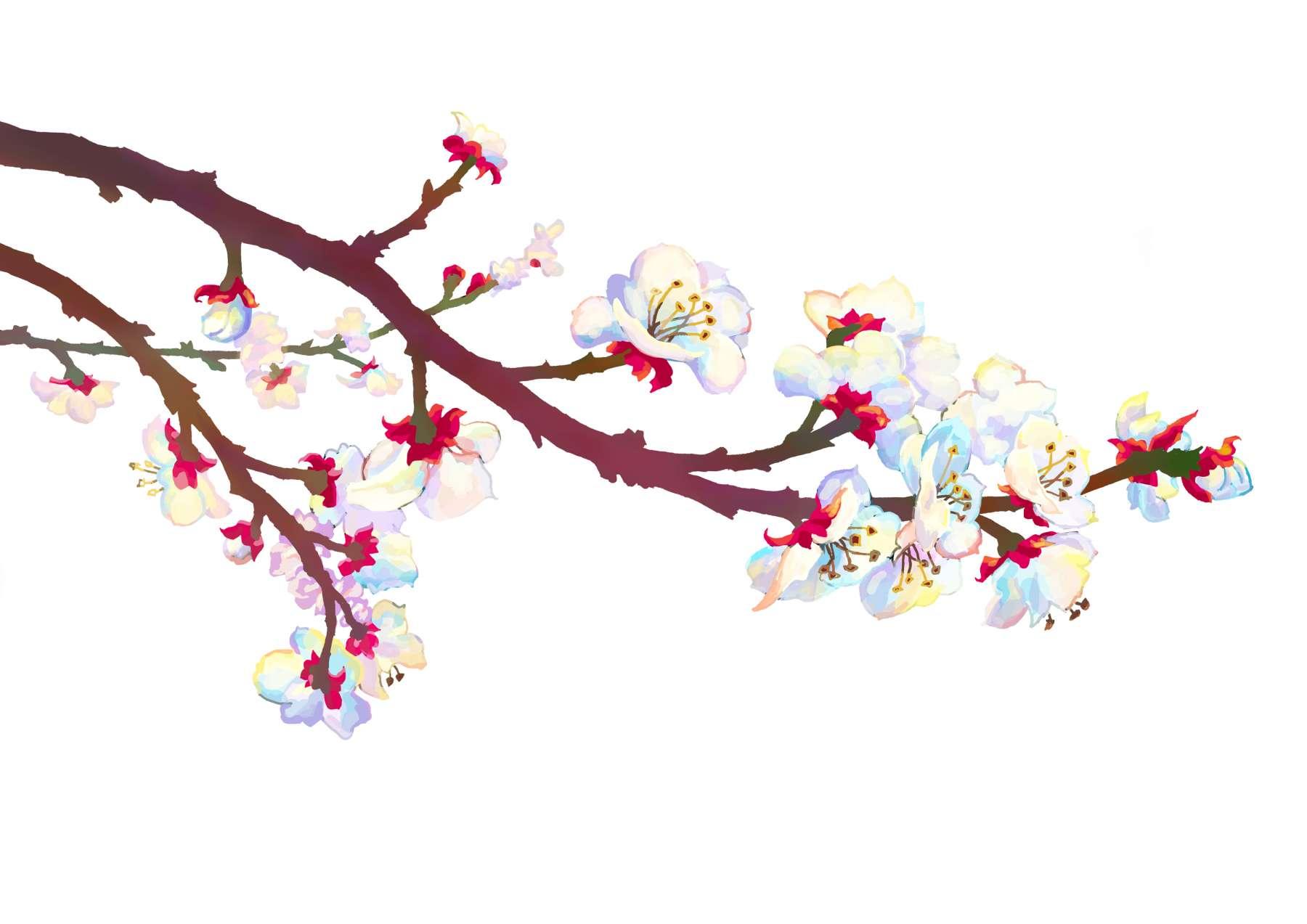 De vier jaargetijden - lente.<br>Ontwerp voor een aardewerken schotel.
