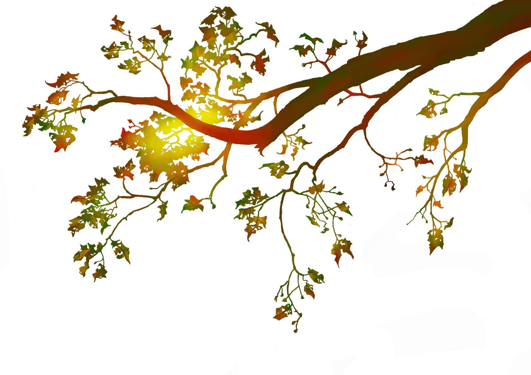 De vier jaargetijden - herfst. <br>Ontwerp voor een aardewerken schotel.