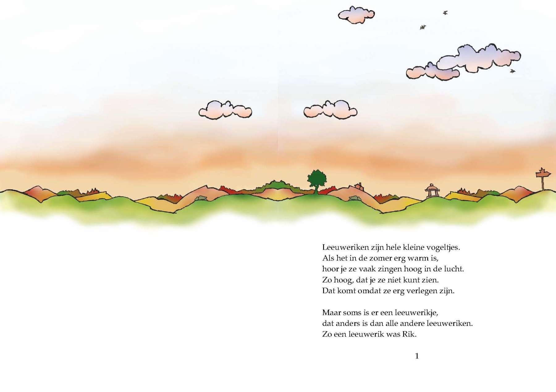 Rik de Leeuwerik - Uitgeverij Maanvis - Leesboek voor 7 - 9 jaar.<br>Rik wil leren hoe je andere dieren bang kunt maken. Maar voor een klein vogeltje is dat erg moeilijk. Dan ontdekt hij iets waar hij wel heel goed in is.