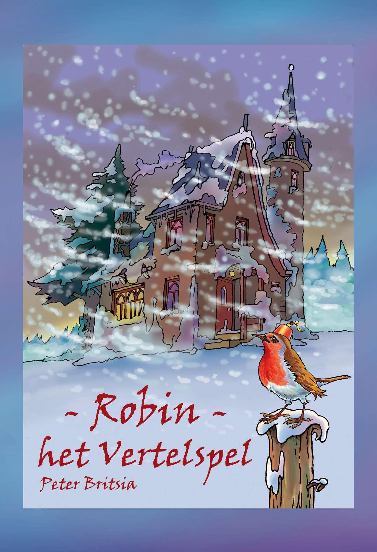 Robin, het Vertelspel - Uitgeverij Maanvis <br>Bordspel met 150 kaarten om met een klein gezelschap een verhaal te laten ontstaan. <br>Idee en illustraties Peter Britsia.