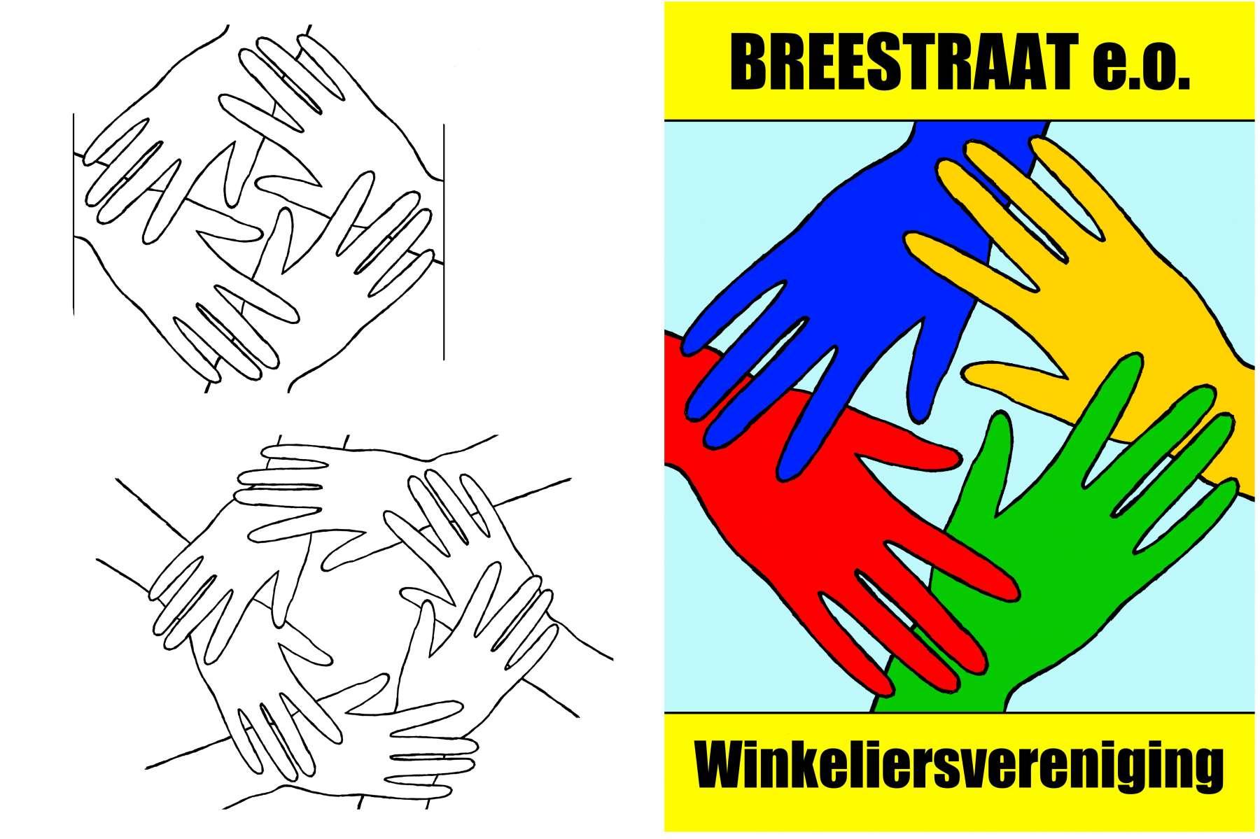 Winkeliersvereniging Breestraat - vignet en vlag