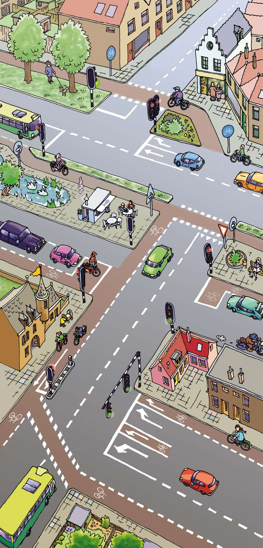 Verkeer in de stad - kijkplaat met opdrachten<br>Verkeersexamen voor basiseducatie - Noordhoff Uitgevers