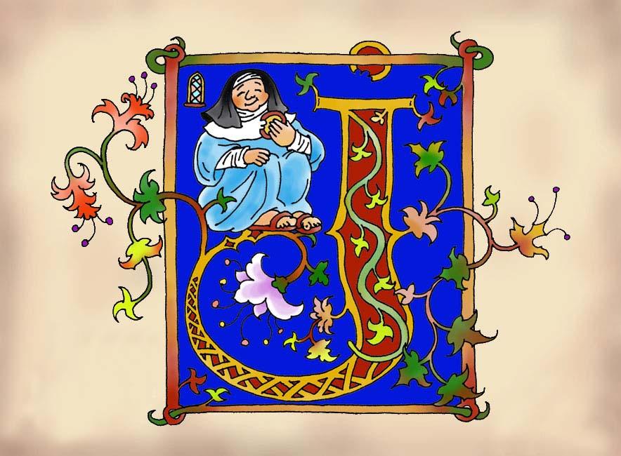 Monniken en kloosters - miniaturen en letters <br>Junior Informatie Reeks - Noordhoff Uitgevers