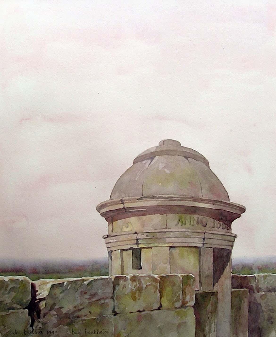 Bad Bentheim 1- aquarel 35 x 45 cm.