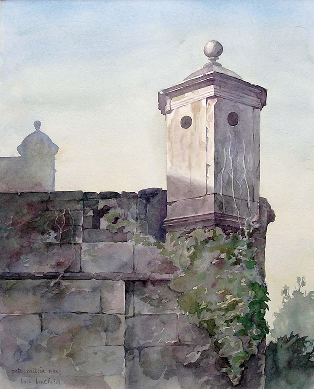Bad Bentheim 2- aquarel 35 x 45 cm.