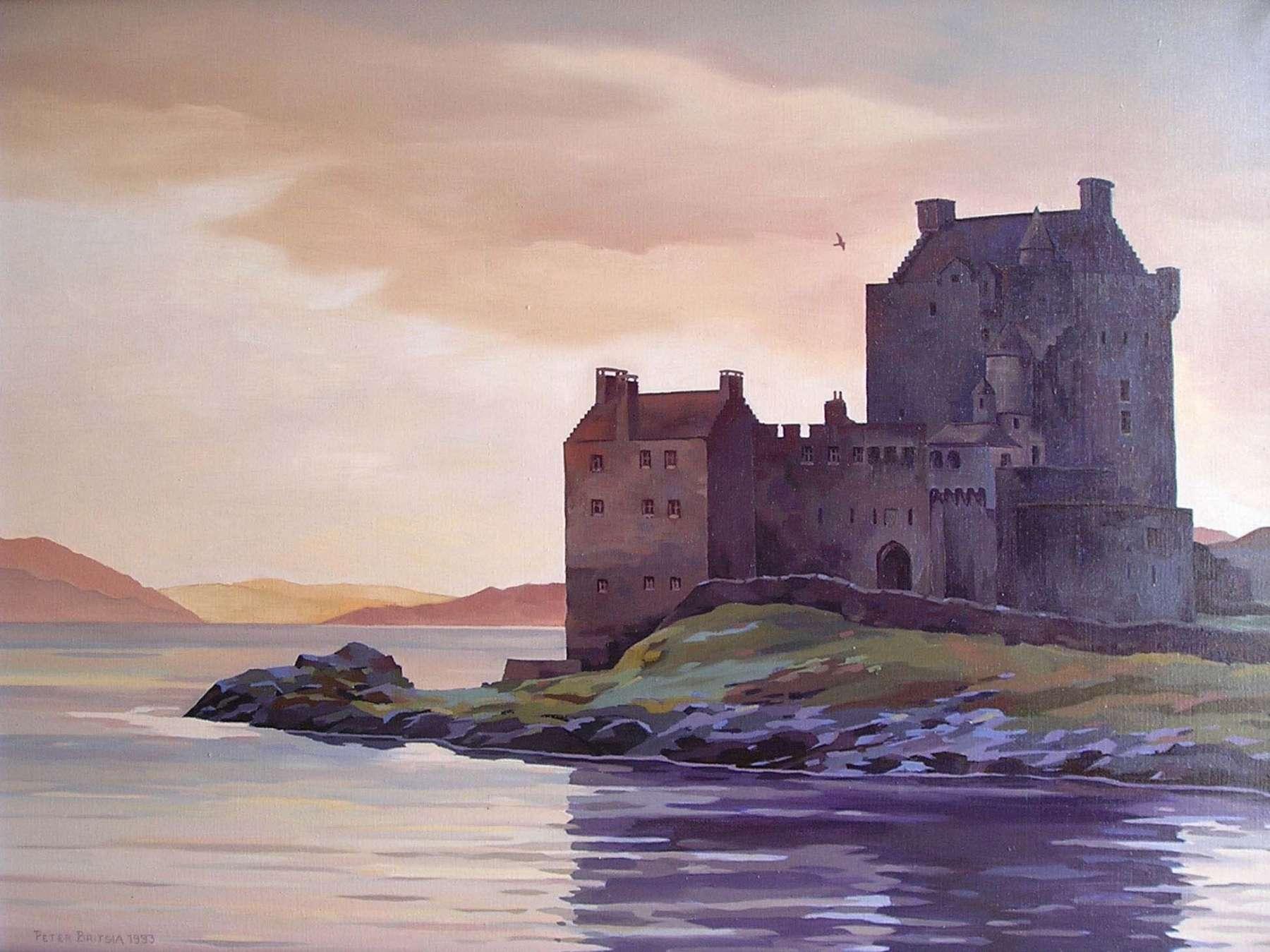Eilean Donan Castle - Schotland - acrylverf - 80 x 60 cm.