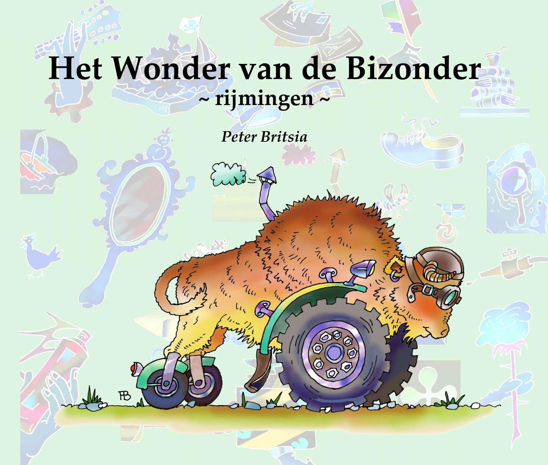 Het Wonder van de Bizonder - rijmingen - Uitgeverij Maanvis<br>Hele korte verhaaltjes in rijm gegoten, tekst en illustraties Peter Britsia.